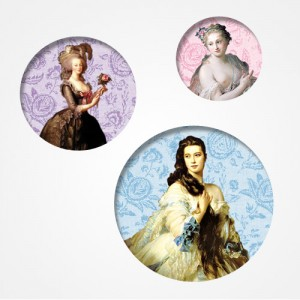 "Trio de badge "" Duchesses"""