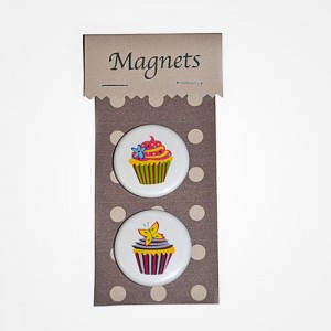 MAGNETS CUPCAKES papillon