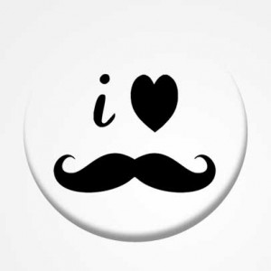 "Badge ""Moustache"""